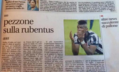 Gaffe di Leggo su un articolo della Juventus