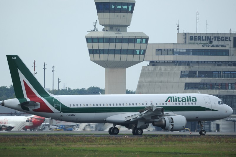 The Alitalia airplane carrying German-bo