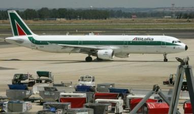 Airbus Alitalia con lo schema del periodo 1969 ANDREAS SOLARO AFP Getty Images