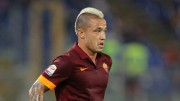 ROME, ITALY - AUGUST 19:  Radja Nainggolan of AS Roma in action during the pre-season friendly match between AS Roma and Fenerbache SK at Stadio Olimpico on August 19, 2014 in Rome, Italy.  (Photo by Paolo Bruno/Getty Images)
