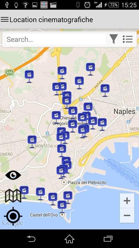 Napoli Movie Tour, l'App mobile per visitare la città