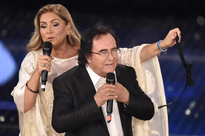 The italian singers Al bano and Romina Power on the stage during the Sanremo Italian Song Festival, at the Ariston theater, in Sanremo, Italy, 10 Februaty 2015. The 65th Festival della Canzone Italiana runs from 10 to 14 February. ANSA/ CLAUDIO ONORATII