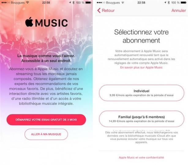 Apple Music account famiglia