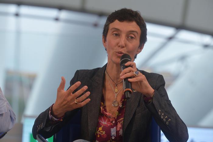 L'eurodeputato Francesca Balzani durante il suo intervento alla festa democratica,, 08 settembre 2013 a Genova. ANSA/LUCA ZENNARO
