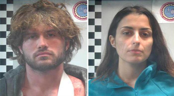 Nella foto distribuita dalla Polizia di Stato, Alexander Boettcher e Martina Levato, arrestati per aver aggredito con l'acido un 22enne a Milano, 29 dicembre 2014. ANSA/ POLIZIA DI STATO +++ ANSA PROVIDES ACCESS TO THIS HANDOUT PHOTO TO BE USED SOLELY TO ILLUSTRATE NEWS REPORTING OR COMMENTARY ON THE FACTS OR EVENTS DEPICTED IN THIS IMAGE; NO ARCHIVING; NO LICENSING +++.