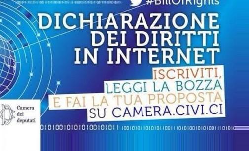 Oggi la dichiarazione dei diritti di internet