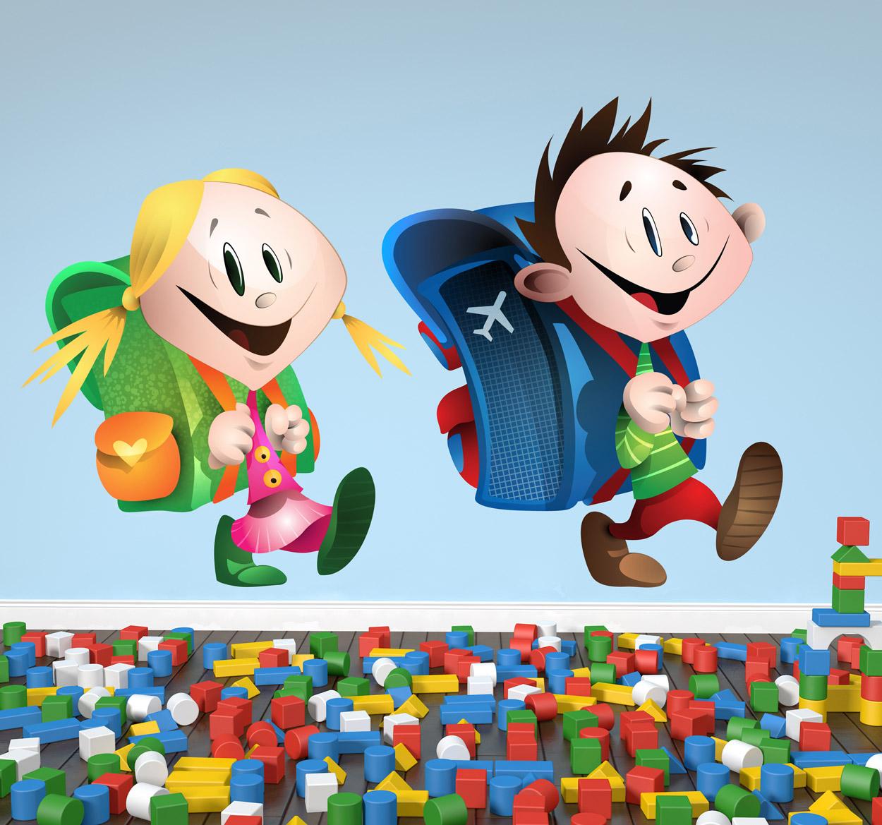 sticker-decorativo-coppia-di-scolari-3901