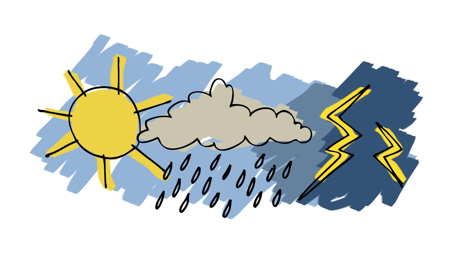 Ancora piogge e temporali in arrivo temperature in calo for Scopa sul divano