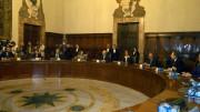 Roma, Palazzo Chigi 8-5-08: insediamento di Silvio Berlusconi  a Palazzo Chigi e primo Consiglio dei ministri.