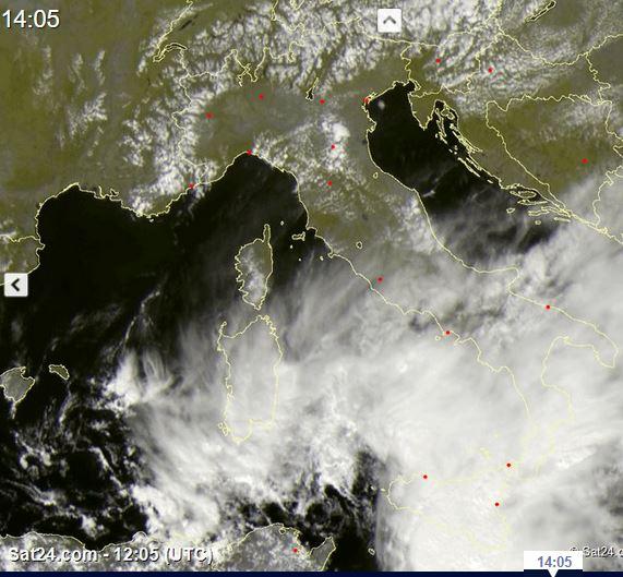 temporali in arrivo da sud