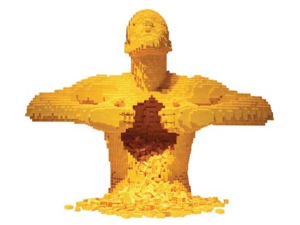 I mattoncini Lego: le opere d'arte di Nathan Sawaya