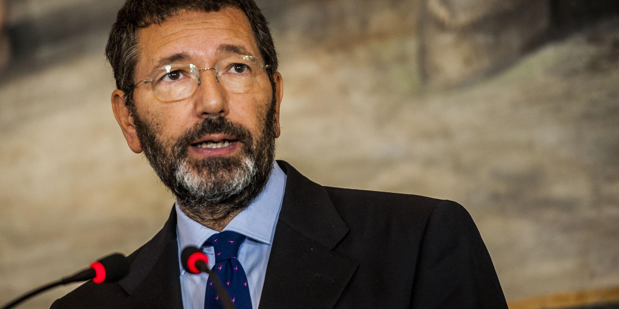 01/10/2014 Roma, i sindaci delle capitali d'Europa insieme per l'agenda urbana europea. Nella foto Ignazio Marino durante la conferenza stampa