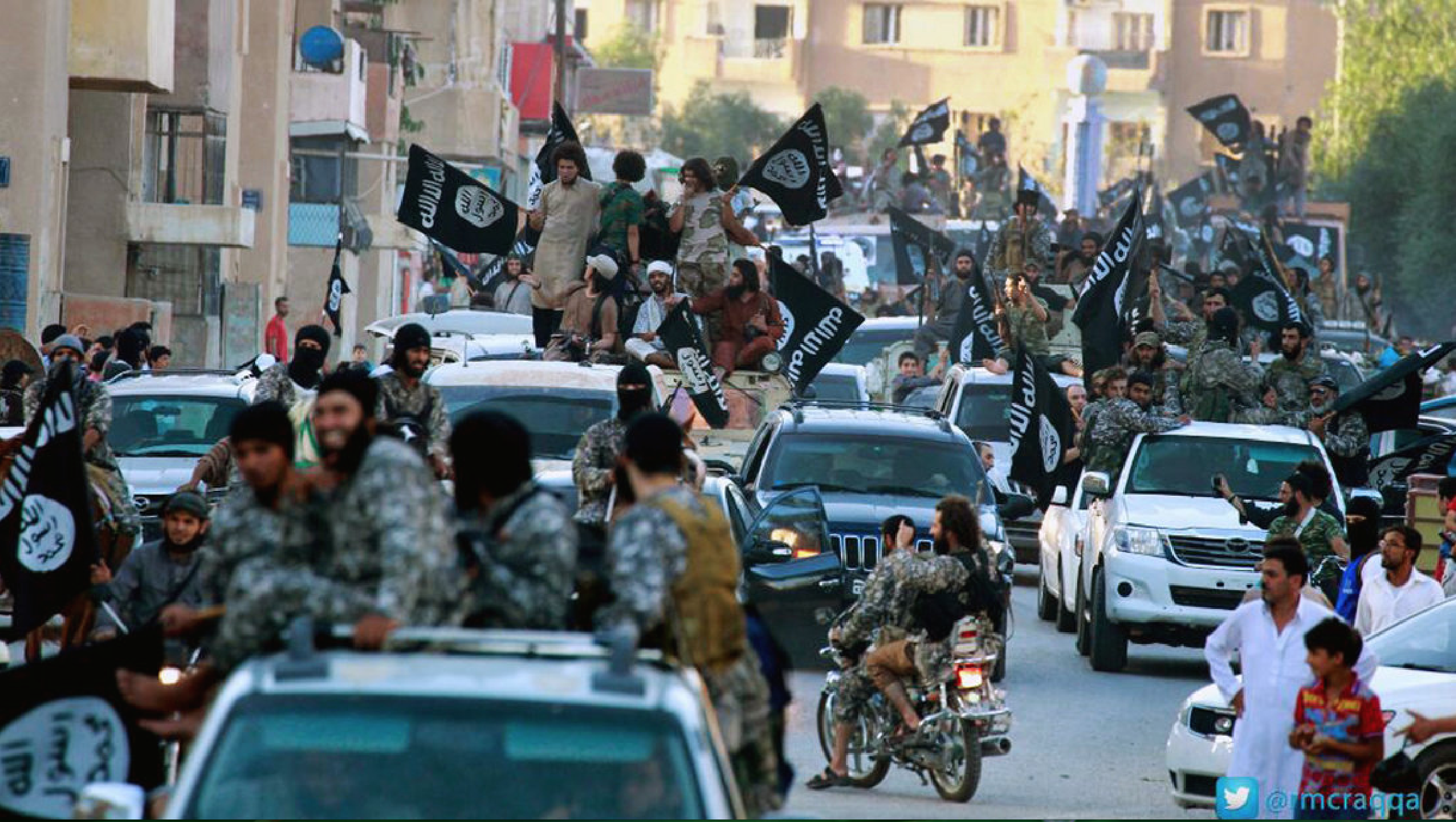 IS parade in Raqqa June 2014