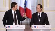 Matteo Renzi e Francois Hollande (Fonte: tg24.sky.it)