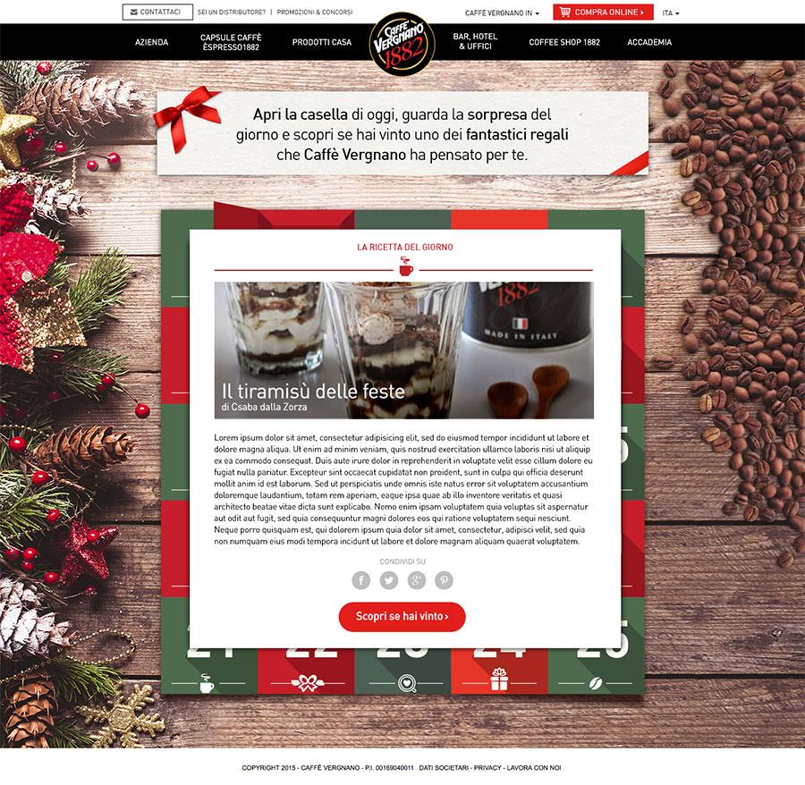 Natale 2015: calendario dell'avvento con Caffè Vergnano