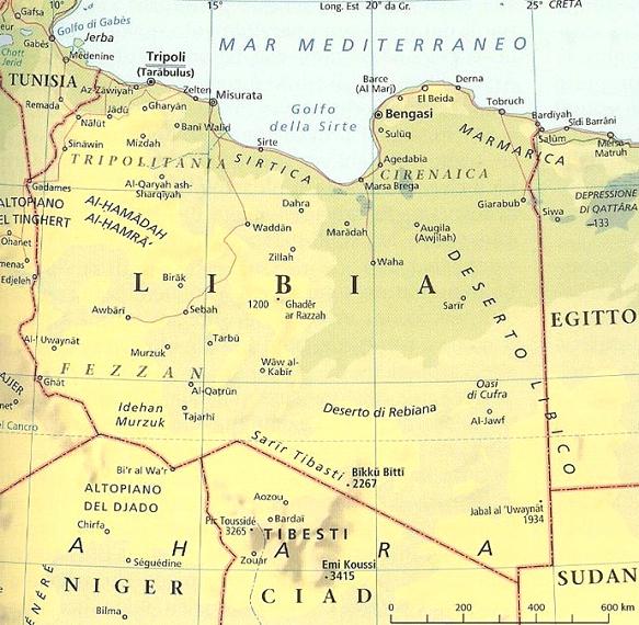 mappa libia