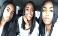 Il selfie di una donna con le giovani figlie: chi è la madre?