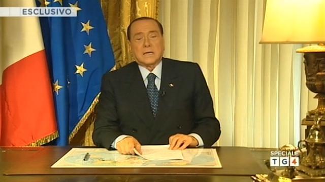 Messaggio Berlusconi in televisione agli italiani
