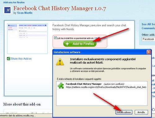 Come salvare conversazioni Facebook