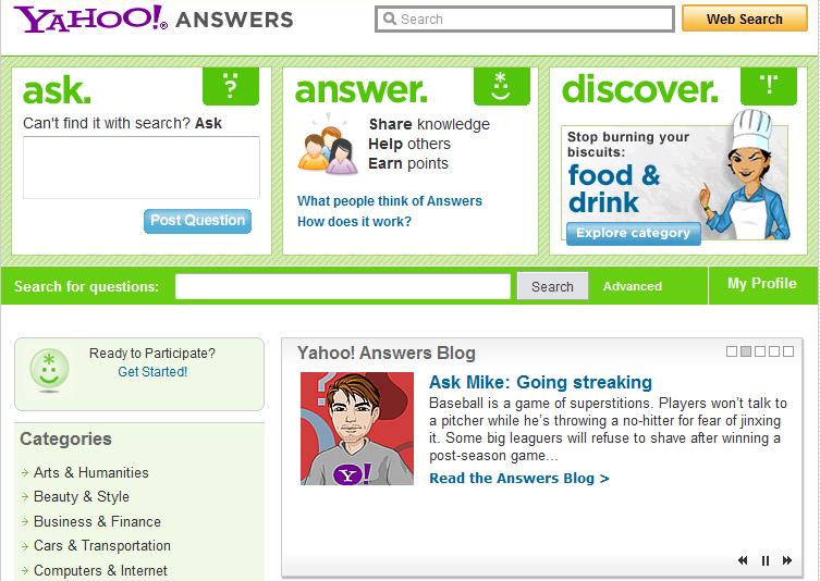 Come fare una domanda su Yahoo Answer