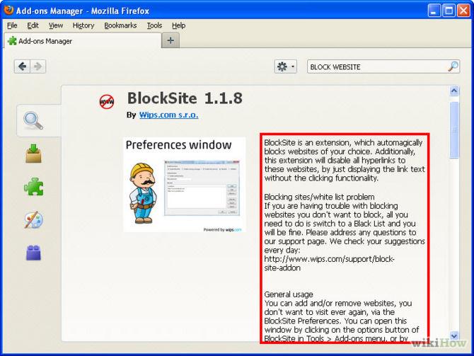 Come bloccare un sito su Firefox
