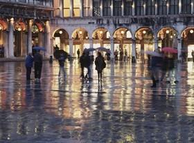 Maltempo a Venezia.