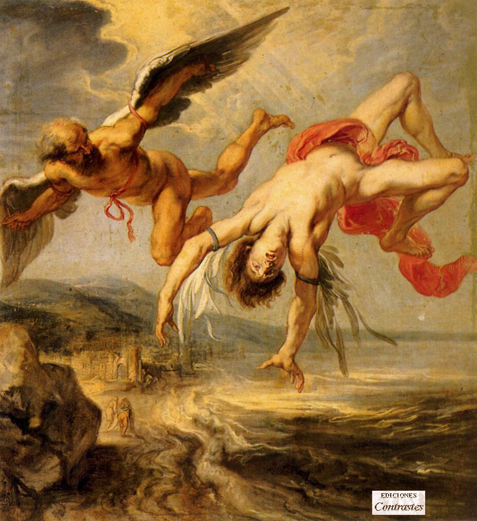 Dedalo, mitico artigiano del labirinto di Creta e inventore delle ali che uccisero Icaro