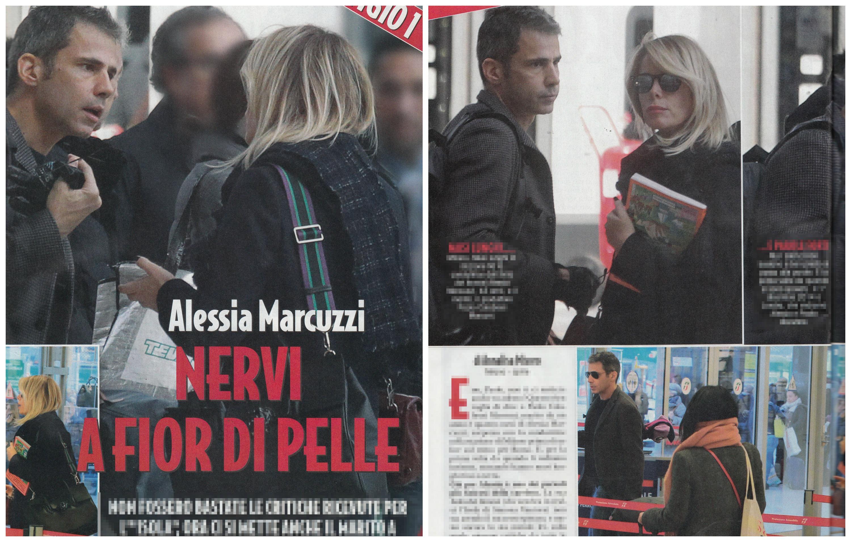 Alessia Marcuzzi litiga con il marito