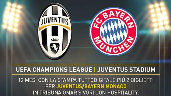 Biglietti ottavi Champions League Juventus-Bayern Monaco 23 febbraio 2016, prezzi e come acquistarli
