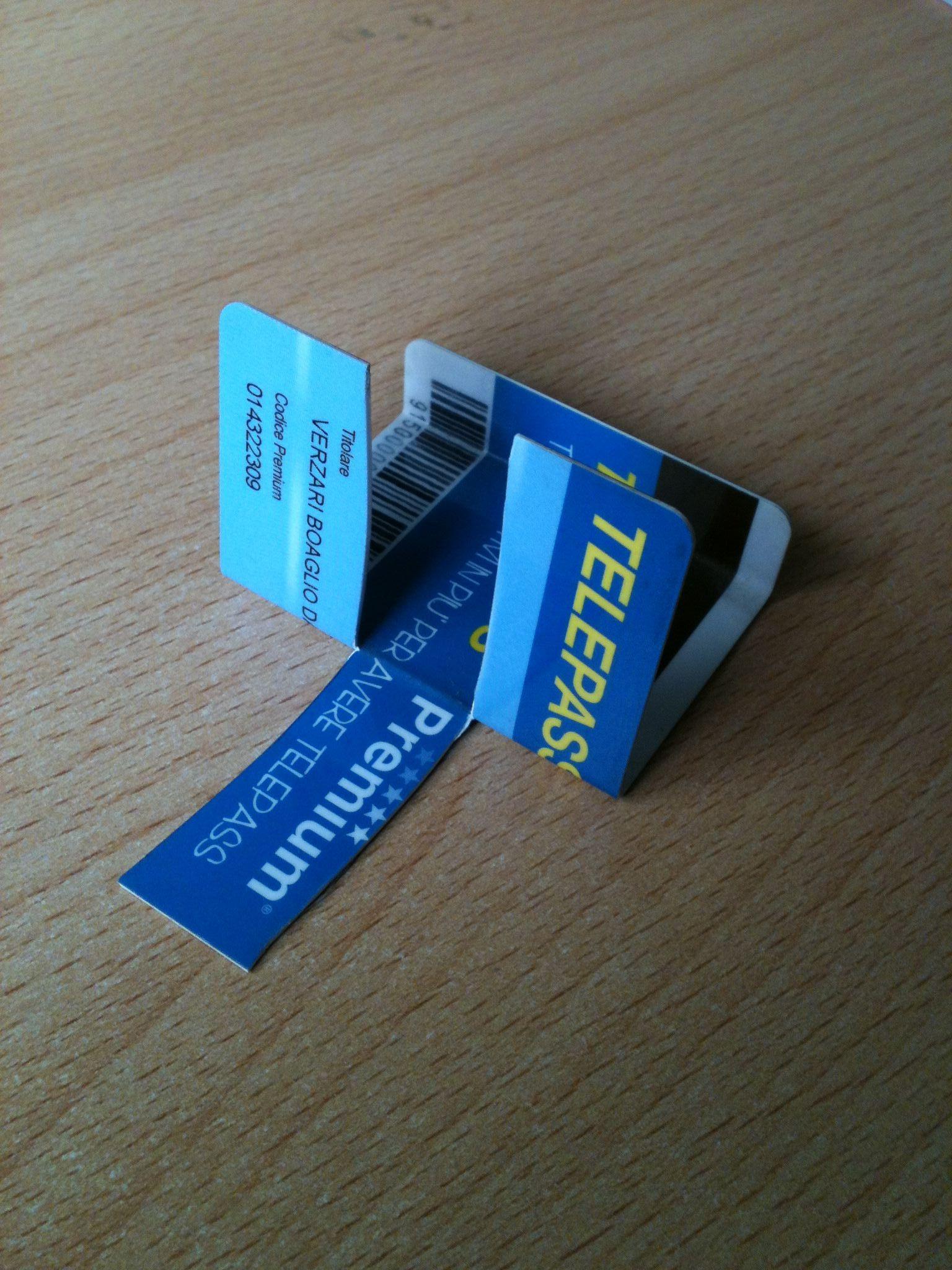 Come trasformare card in supporto Smartphone