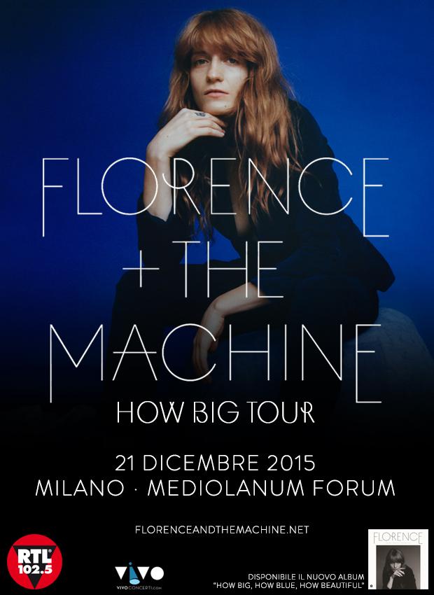 Prezzi biglietti Florence and The Machine Assago 21 dicembre