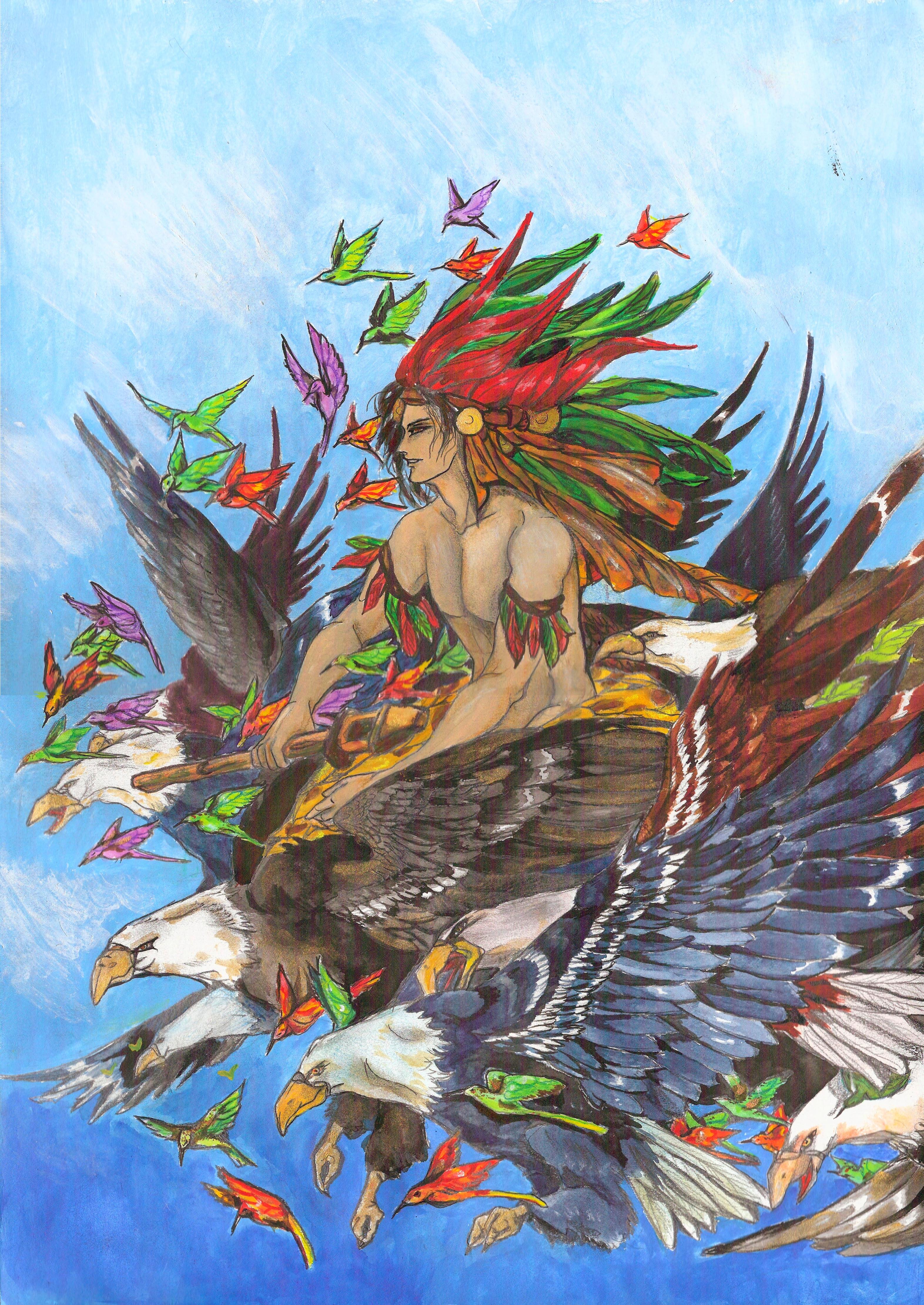 Il dio azteco Huitzilopochtli, colui che nasce, lotta e muore ogni giorno