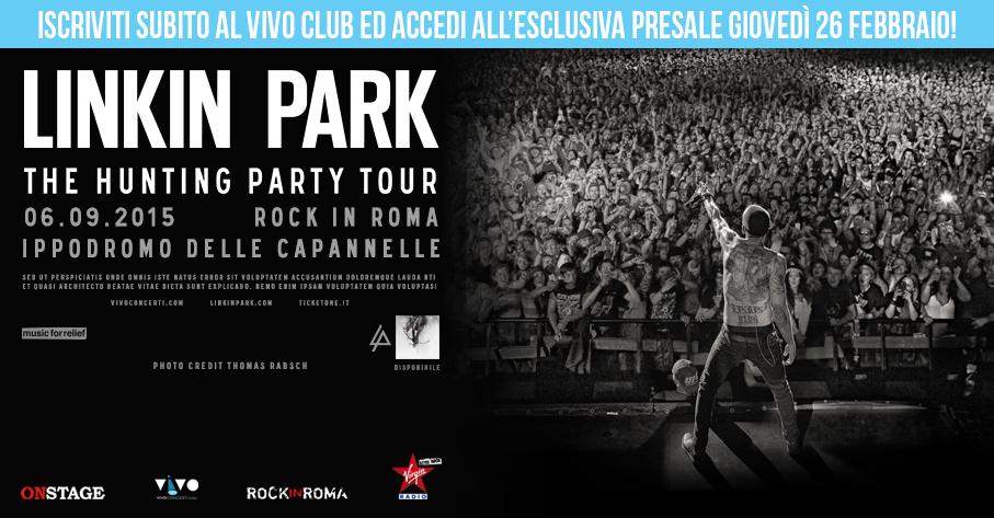 Prezzo biglietto concerto Linkin Park settembre 2015