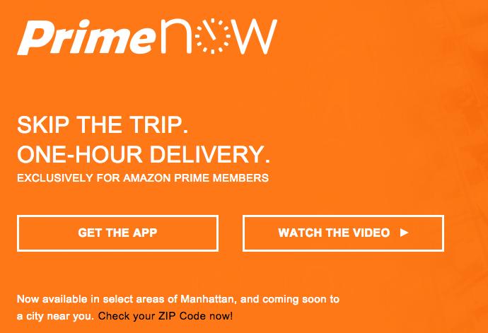 Che cos'è, costi servizio consegna Prime Now di Amazon