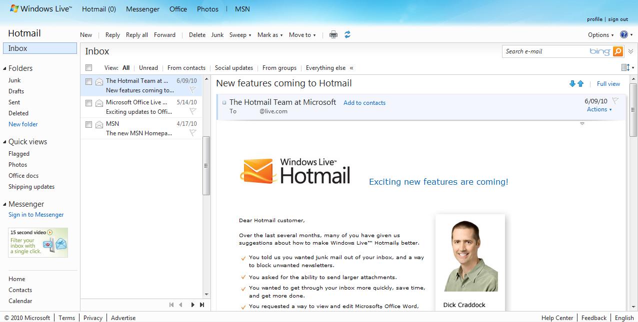 Come organizzare la posta in arrivo su Hotmail