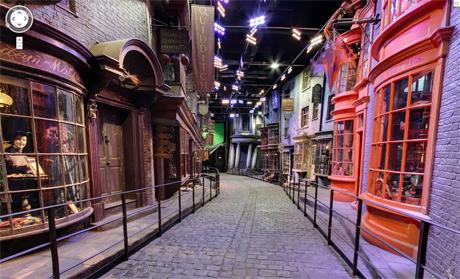 Diagon Alley di Harry Potter su Google Maps