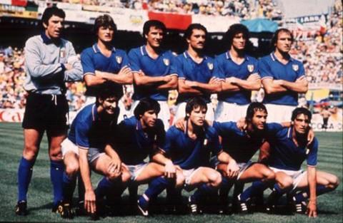 La rosa dell'Italia campione del mondo 1982