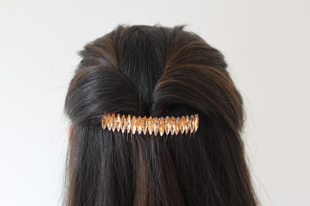 Fermacapelli fai da te con strass