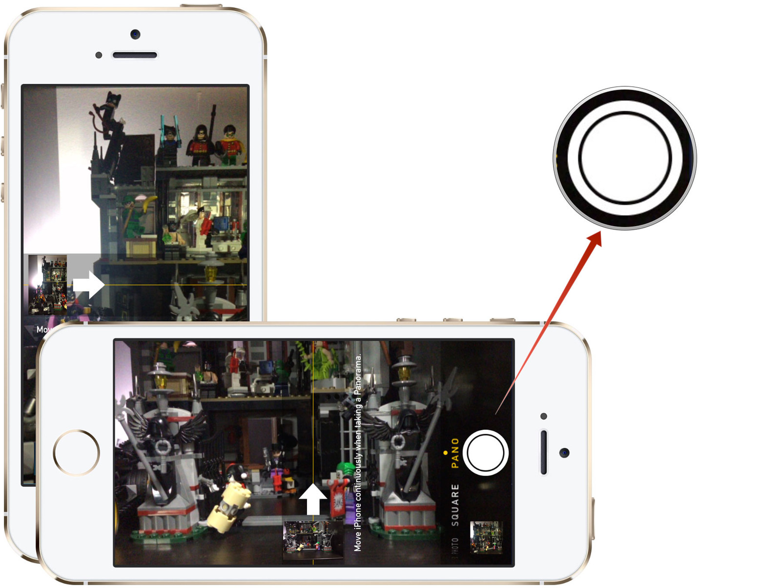 how to panorama vertical screens