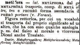Che cos'è una metafora?