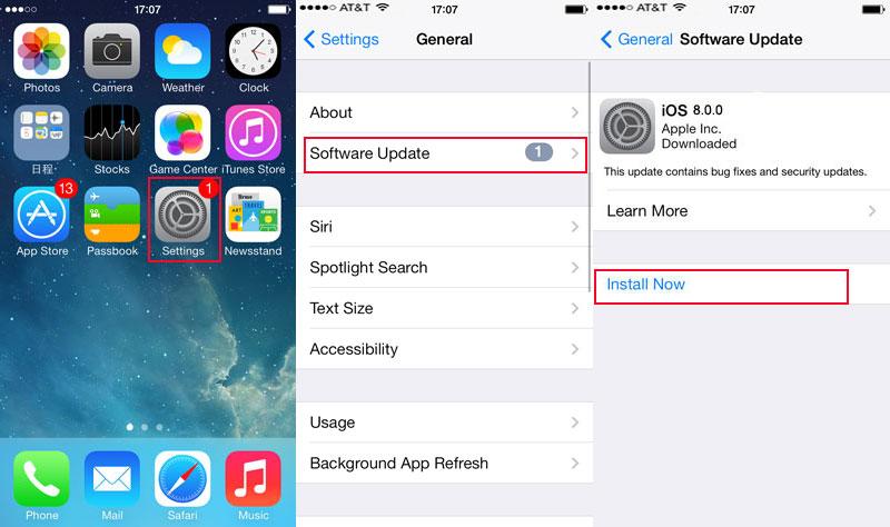 Come aggiornare iPad a iOS 8