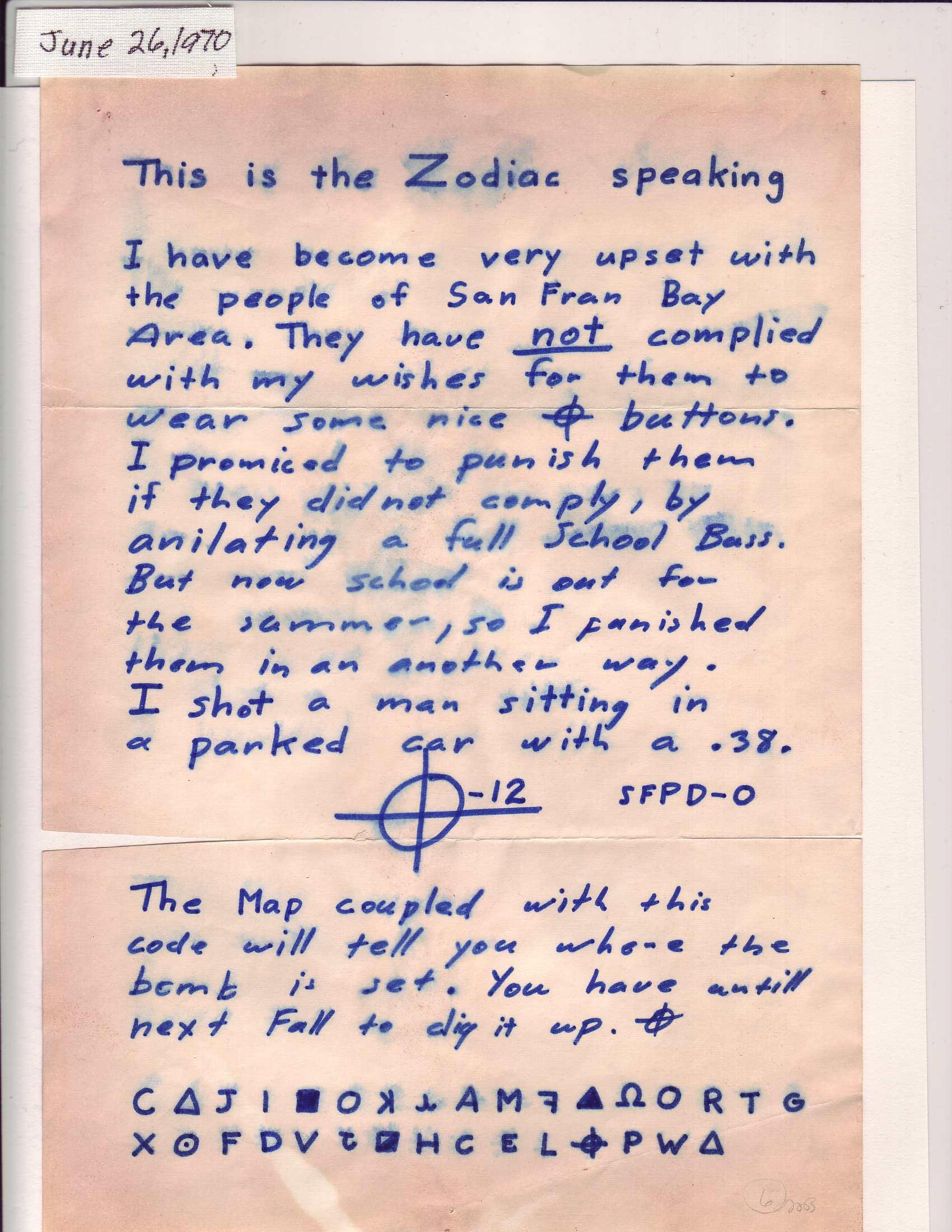 Mistero: Zodiac, il killer mai scovato