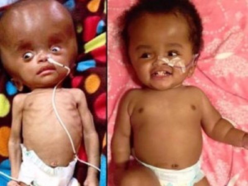 Trova neonata in abbandono e la adotta, dopo 2 anni la piccola Nika è in gran forma