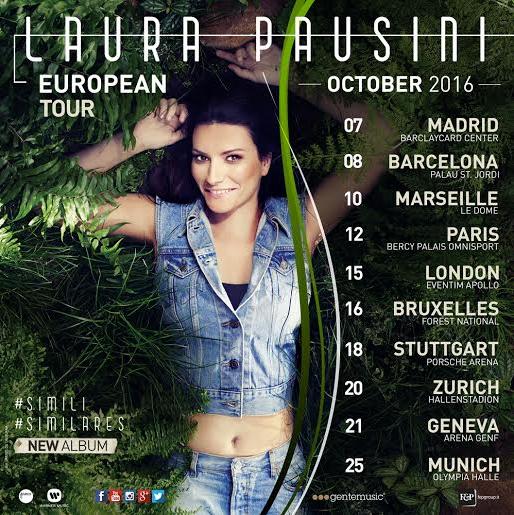 Date European Tour Laura Pausini