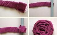Come realizzare una rosa con la stoffa