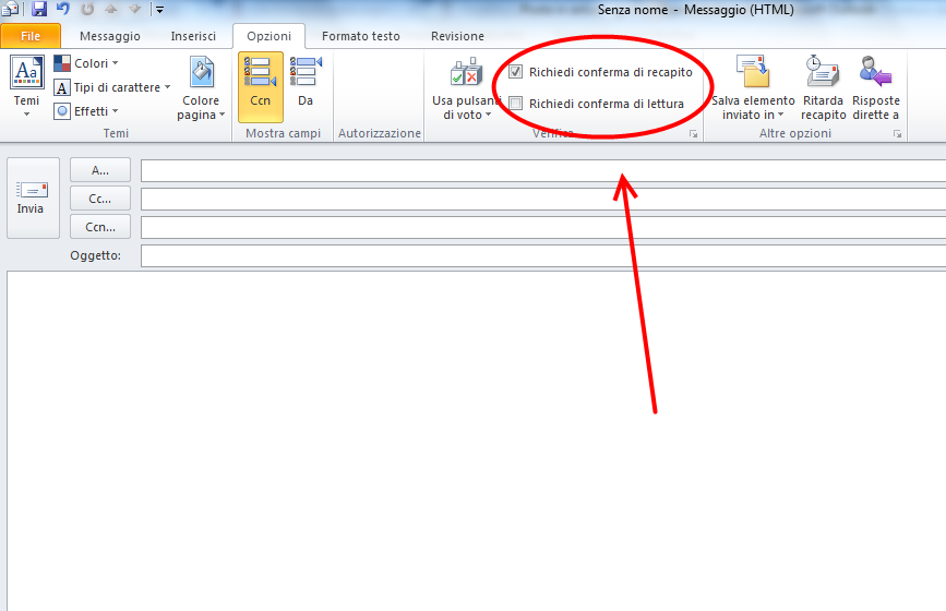 Come abilitare conferma di lettura su Outlook