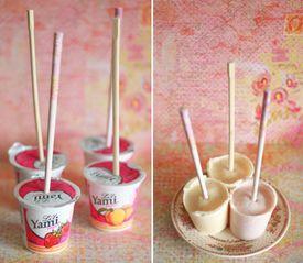 Ghiaccioli allo yogurth: delizia in un battibaleno