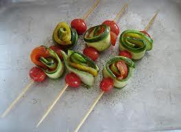 Come fare gli spiedini di verdure