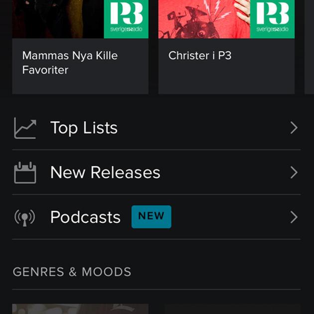 Spotify, come ascoltare podcast