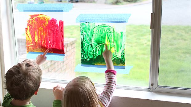Arte e bambini: dipingere sulle finestre